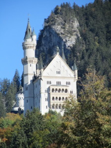 our first glimpse of the Neuschwanstein Castle