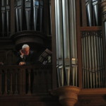 The organist Bruno Beaufils at Eglise Saint Germain Des Pres