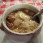 Onion soup at Le Marathon