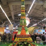 A Eifel tower of vegetables