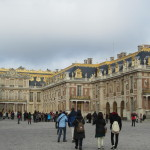 Chateau de Versailles from the court yard